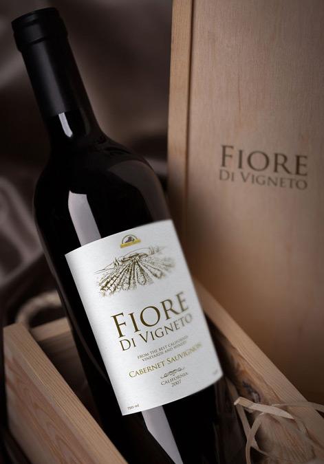 Fiore Vineyards Wine Bottle Design
