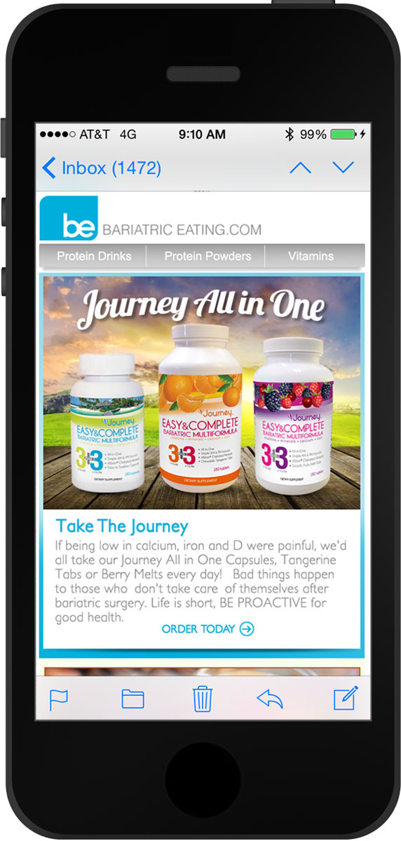 Shop Bariatriceating email marketing