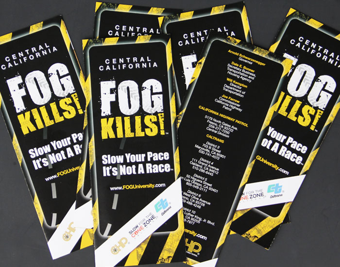 Fog Kills Brochure Design